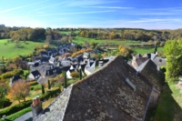 roofs at Turenne Dordogne French walking holidays